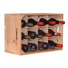 wooden wine rack crate