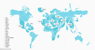 mexico in the world map the world map resized according to most popular travel