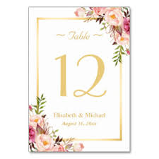 what size are table number cards number table cards place cards zazzle