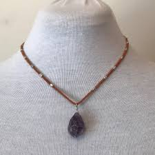 necklace with purple stone images Kenneth cole kenneth cole purple stone necklace from welcome jpg