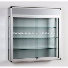 decoration wood and glass cabinet document display cases wall