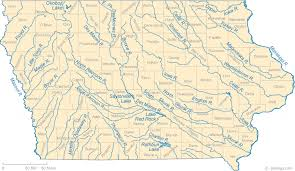 Iowa rivers images Map of iowa lakes streams and rivers gif