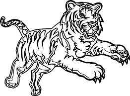 attack time tiger coloring page wecoloringpage