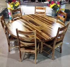 solid oak round dining table 6 chairs buy solid wood sheesham dining table w6 wooden chairs at shop the