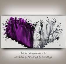 home design ideas nandita original art purple and white modern painting wall art decor office