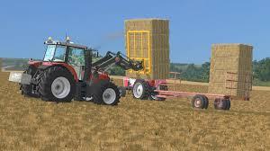 homemade tractor homemade bale trailer v1 mod farming simulator 2015 15 mod