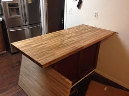 install butcher block countertop island remove old countertop install butcher block countertop island remove old countertop youtube