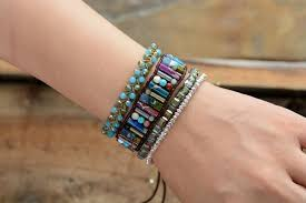 wrap bracelet images Earth spirit mixed natural semi precious stone leather wrap jpg