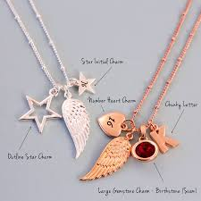 create your own necklace neat design create your own necklace gold heart engraved layered