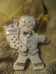 details about lenox annual 2001 gingerbread sweetest