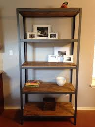 Iron And Wood Bookcase Metal And Wood Shelving Home U2013 Tiles