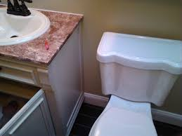 Replacing Bathroom Vanity by Install Bathroom Vanity Baseboard