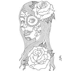 Halloween Coloring Pages Adults Day Of The Dead Coloring Pages Day Of The Dead By
