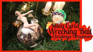 diy miley cyrus wrecking ornament 2013