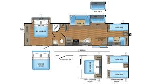 jayco jay flight 38bhds travel trailer floor plan