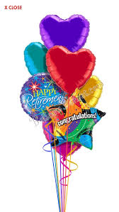 retirement balloons delivery retirement balloon bouquet 7 balloons balloon delivery by