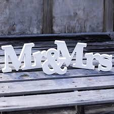 Mr And Mrs Sign For Wedding Aliexpress Com Buy 1 Set Mr U0026 Mrs Wooden Letters For Wedding