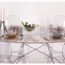 kartell glossy dining table area domus jellies family long drink glass