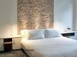 chambre tete de lit id e tete de lit originale with tete lit papier peint brique déco