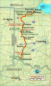 Map Of Toledo Ohio by Riding The Miami Erie Canal Rider Magazine