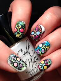 punky u0027s polish watercolor sugar skulls