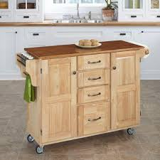 home styles create a cart natural kitchen cart with towel bar 9100
