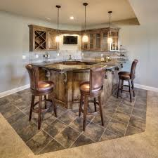 bickimer homes daylight walkout basement bar model homes