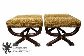 2 ralph lauren henredon mcdowell stools empire style mahogany