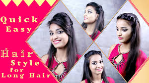 How To Do Easy Hairstyles Step By Step by Hairstyles For Long Hair Quick And Easy Diy Khoobsurati Com