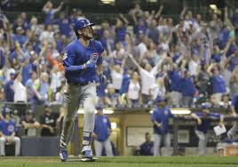brewers another blown late lead as kris bryant u0027s homer in 10th