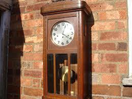 German Clocks Antique Old Vintage Junghans German Westminster Wall Clock Key