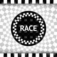 Checkered Flag Ribbon Checkered Flag Background With Round Label Royalty Free Vector