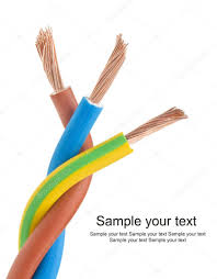 Electric Cable Closeup Of A Electric Cable On A White Background U2014 Stock Photo
