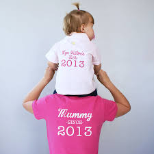 personalised mummy and baby polo shirt set by sparks and daughters