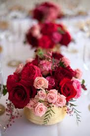 red pink rose gold vase centerpiece elizabeth anne designs the