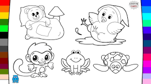 baby animals coloring pages drawing and coloring art of