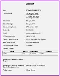 free download marriage biodata format resume template cover