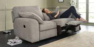Contemporary Reclining Sofa With Topstitch by Buy Stamford Recliner Recliner Medium Sofa 3 Seats Textured