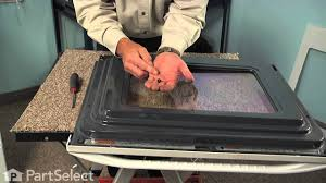 Ge Profile Glass Cooktop Replacement Range Repair Replacing The Inner Oven Door Glass Whirlpool Part