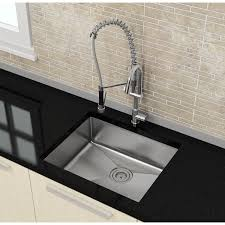 The Kraus Khu Kraus  Inch Farmhouse Double Bowl Stainless - Single undermount kitchen sinks