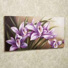 Home Decor Canvas Art Wild Orchid Handpainted Floral Canvas Wall Art