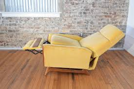 Yellow Leather Recliner Furniture Modern Leather Recliner Mid Century Modern Couch