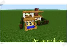 membuat rumah di minecraft cara membuat rumah minimalis pada permainan game minecraft