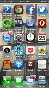 Iphone 5 Symbols On Top Bar My Home Screen Iphone Apps