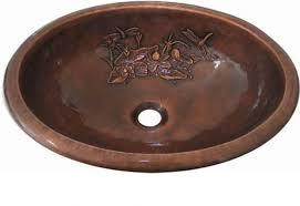 bathroom nice brown oval copper vessel sinks bathroom ideas with
