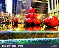 giant christmas ornaments reflecting pool 1251 avenue of the