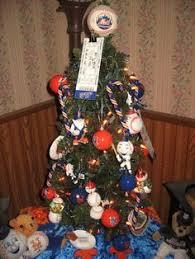 mets tree with santa merry metsmas trees