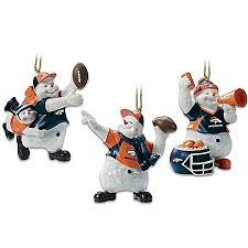 denver broncos ornaments decorations trees bedding