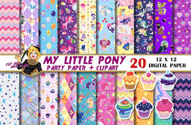 my little pony digital paper my little pony clipart pony