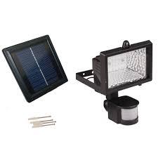 Outdoor Motion Sensor Light Home Depot - solar goes green solar powered 50 ft range black motion outdoor